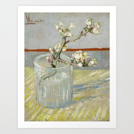 Vincent van Gogh - Blossoming Almond Branch in a Glass Art Print