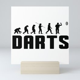 Darts WM Darts Dartboard Evolution Gift Mini Art Print