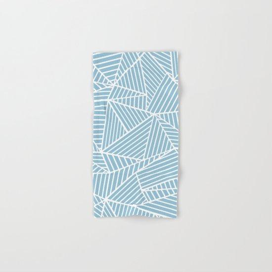 Ab Lines Sky Blue Hand & Bath Towel