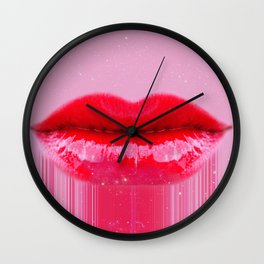 Kiss my Lips Wall Clock