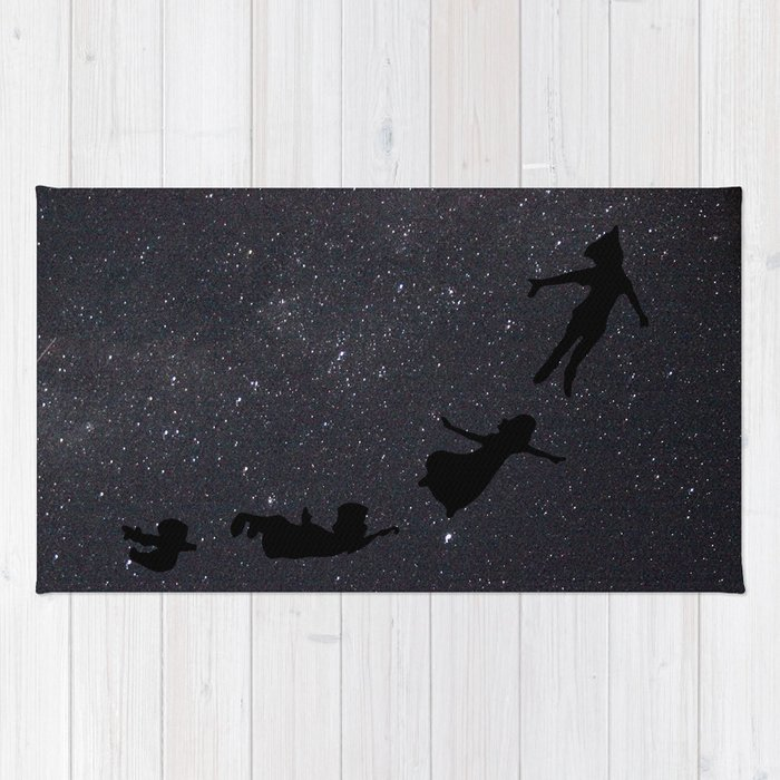 Peter Pan Fly To Neverland Rug By Originalityisdead Society6