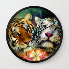 Tiger Lillies Wall Clock