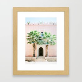 "Travel photography print ""Magical Marrakech"" photo art made in Morocco. Pastel colored. Gerahmter Kunstdruck"