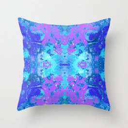 95 - Ice colour abstract pattern Throw Pillow