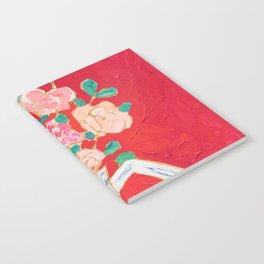 Delft Bird Pitcher on Red Background Notebook