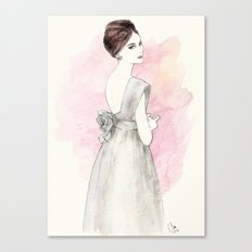 'Olivia' Watercolor Fashion Illustration Canvas Print