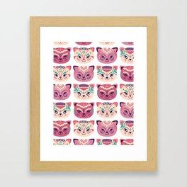 Kittens pattern Framed Art Print