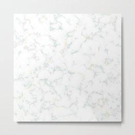 Green Marble Metal Print
