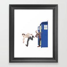 tardis-sick Framed Art Print