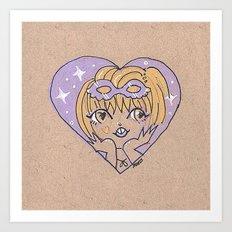 Little Heart Costume Time Art Print