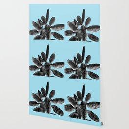 Black Light Blue Cactus #1 #plant #decor #art #society6 Wallpaper