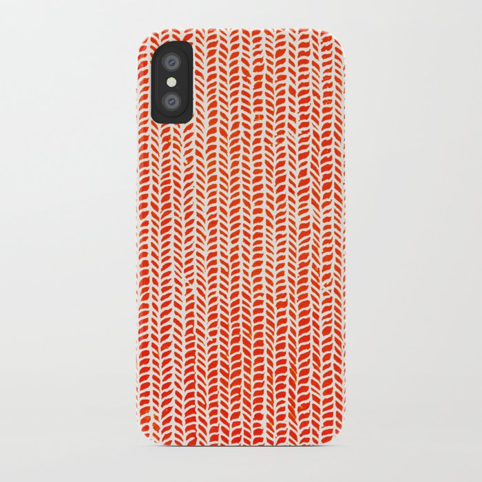 Stockinette Orange iPhone Case