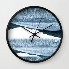 Blue Rolling Hills Wall Clock