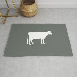 Cow: Dark Grey Rug