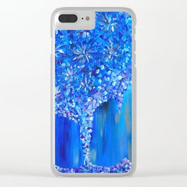 """Abstract Acrylic Large Painting """"Skyfall"""" Clear iPhone Case"""