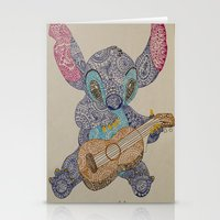 stitch Stationery Cards featuring Stitch by Julia