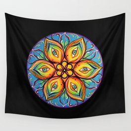 Eyes Open, Mouth Closed Wall Tapestry