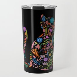 Fancy And Fine Flower Cat Garden Design Travel Mug