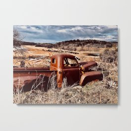 Rustic Hog Metal Print