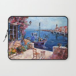 Morning at the Wharf Laptop Sleeve