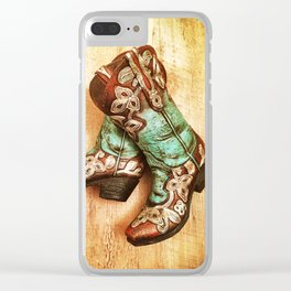 Cowboy Boots Clear iPhone Case