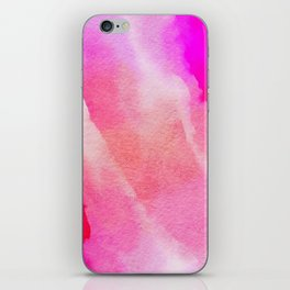 Paper-pink,red and blue iPhone Skin