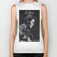 elvis Biker Tanks featuring Elvis by JeleataNicole