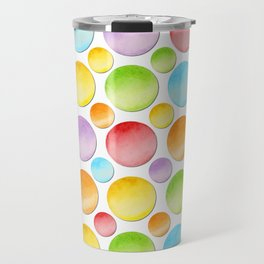 Rainbow Polka Dots Travel Mug