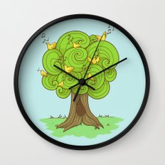 The Music Tree Wall Clock