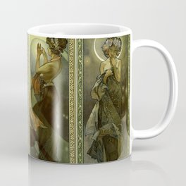 "Alphonse Mucha ""The Moon and the Stars Series"" Coffee Mug"