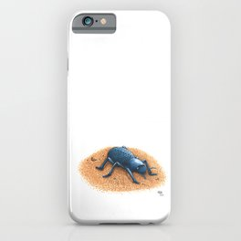 Blue Death Feigning Beetle iPhone Case
