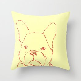 Sketched Frenchie Throw Pillow