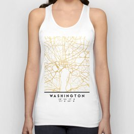 WASHINGTON D.C. DISTRICT OF COLUMBIA CITY STREET MAP ART Unisex Tank Top