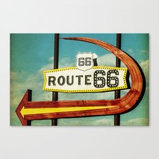 Route 66 Motel Graphic Sign Canvas Print