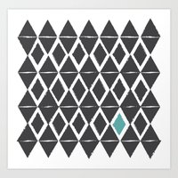 diamond back Art Print