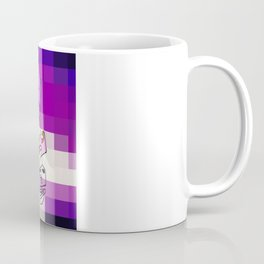 Purple White Commotion Coffee Mug