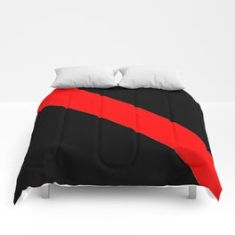 Oblique red and black Comforters