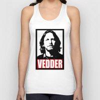 eddie vedder Tank Tops featuring Eddie Vedder by Darkside-Shirts