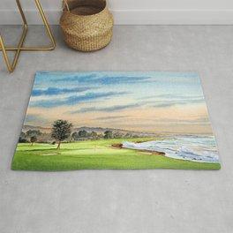 Pebble Beach Golf Course 18th Hole Rug