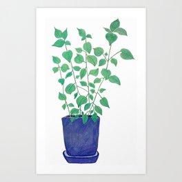 petite plante de maison Art Print
