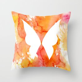 Fire Fairy (Inverted) Throw Pillow