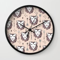 Summer lion pastel zoo Wall Clock