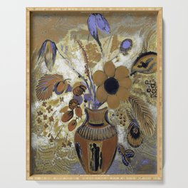Odilon Redon Etruscan Vase with Flowers Serving Tray