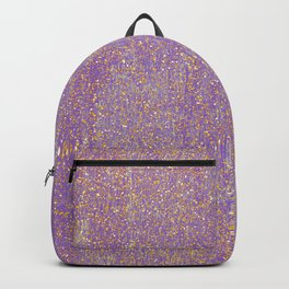 Elegant purple lavender faux gold glitter Backpack