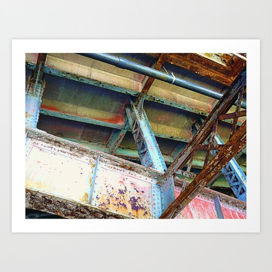 Beams and Girders - Charles River Overpass Art Print