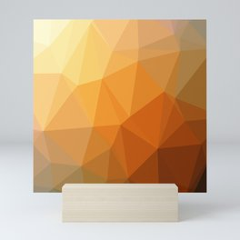 Shades Of Orange Triangle Abstract Mini Art Print