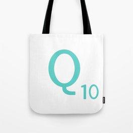 Blue Q Scrabble Art Initial Tote Bag