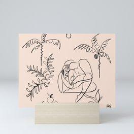 Dreamers no.1 (apricot) Mini Art Print