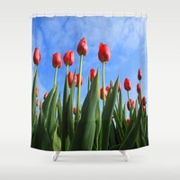 duvet cover Shower Curtains featuring Duvet Cover 405D by Michael Mackin