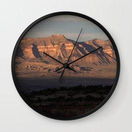Mt. Garfield & Bookcliffs, Colorado Wall Clock